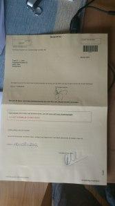 Briefstembewijs invullen en ondertekenen