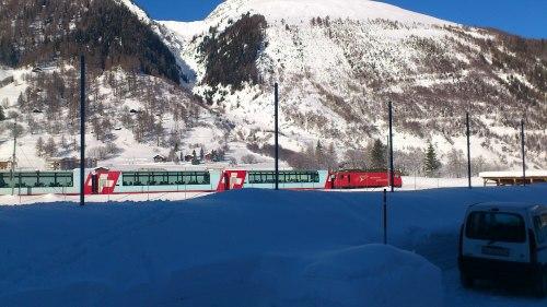 Glacier Express tussen Oberwald en Ulrichen